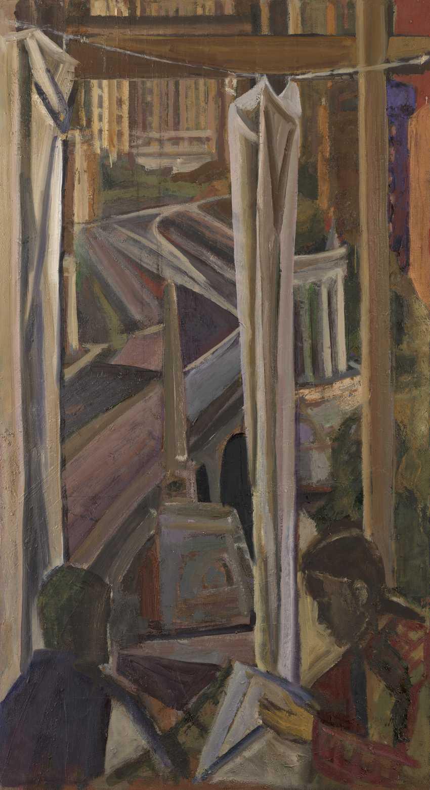 ANDRONOV, NIKOLAI (1929-1998) Window over the Borodinsky Bridge  - photo 1