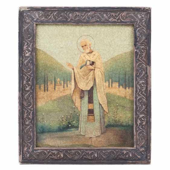 An icon in the art Nouveau style St. Nicholas - photo 1