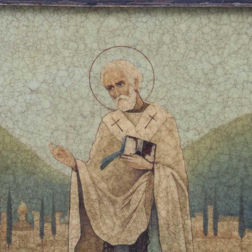 An icon in the art Nouveau style St. Nicholas - photo 3