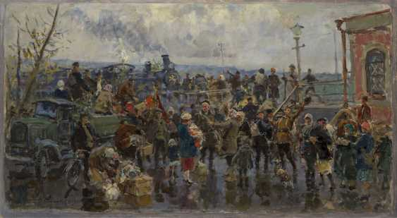 SAVITSKY, GEORGY (1887-1949) Leaving for the Front , signed and dated 1946. - photo 1