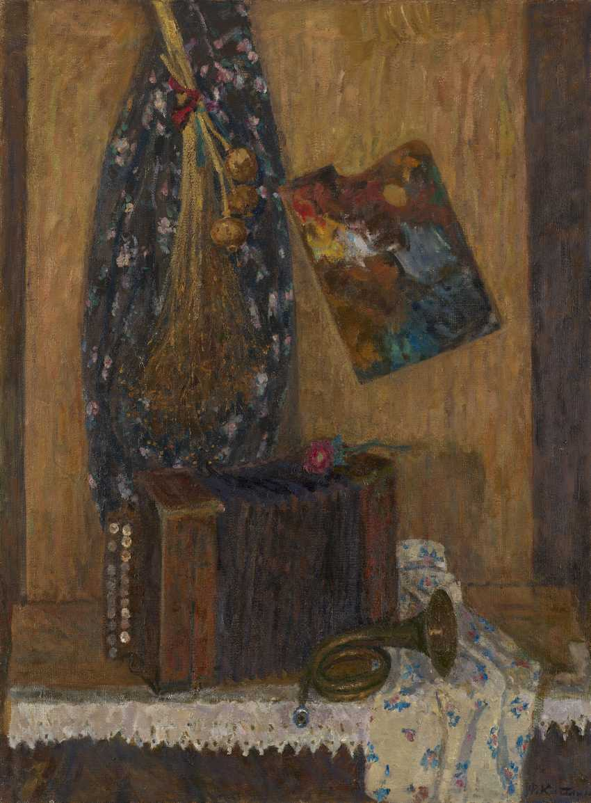 KAPLAN, FANIA (1913-1994) Still Life with Cotton Fabric , signed, also further signed, titled in Cyrillic and dated 1979 on the reverse. - photo 1
