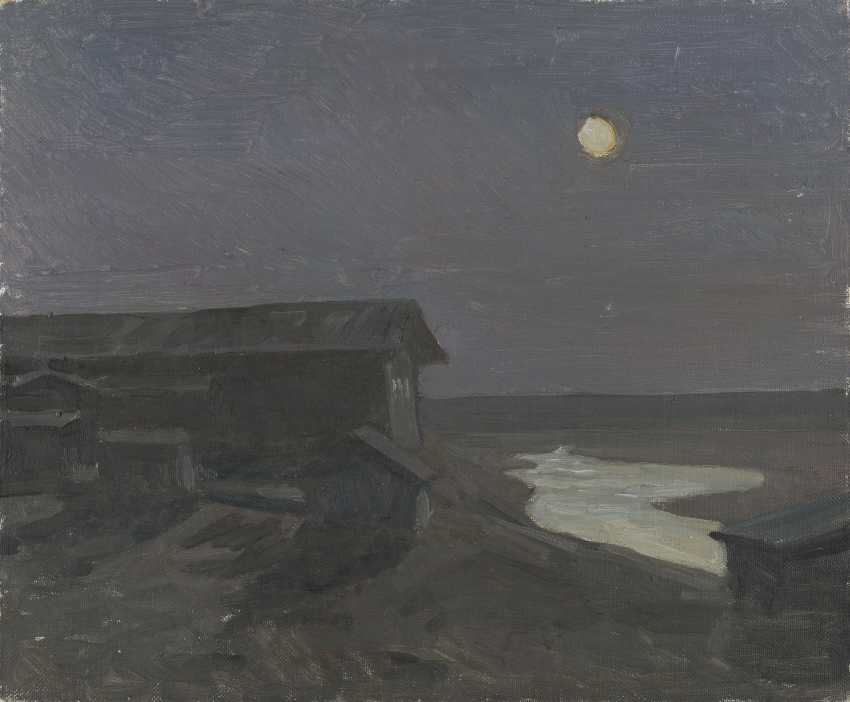 GRITSAI, ALEXEI (1914-1998) Moonlit Night , signed and titled in Cyrillic on the stretcher. - photo 1