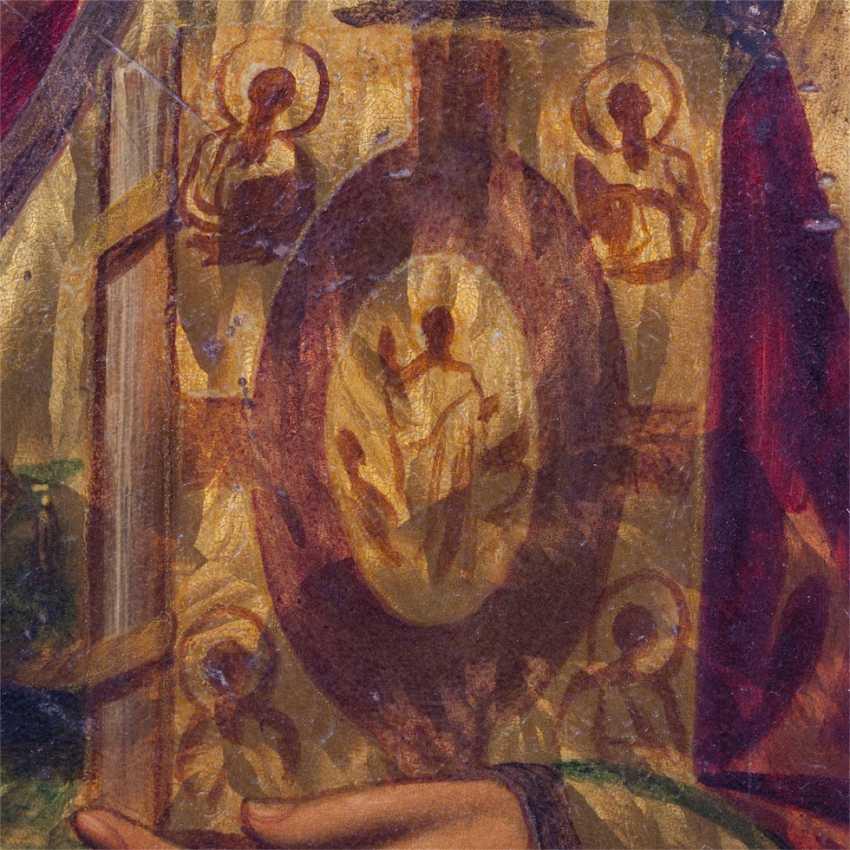 An unusual icon of St. Nicholas the Wonderworker, tn