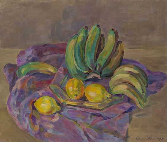 ASLAMAZYAN, ERANUI (1910-1998) Still Life with Bananas , signed, also further signed, titled in Cyrillic and dated 1962, also further signed and titled on the stretcher. - photo 1