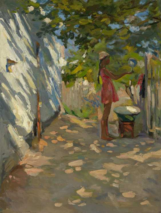 KHRISTOLIUBOV, NIKOLAI (1918-1995) Crimean Courtyard , signed, titled in Cyrillic and dated 1962 on the reverse. - photo 1
