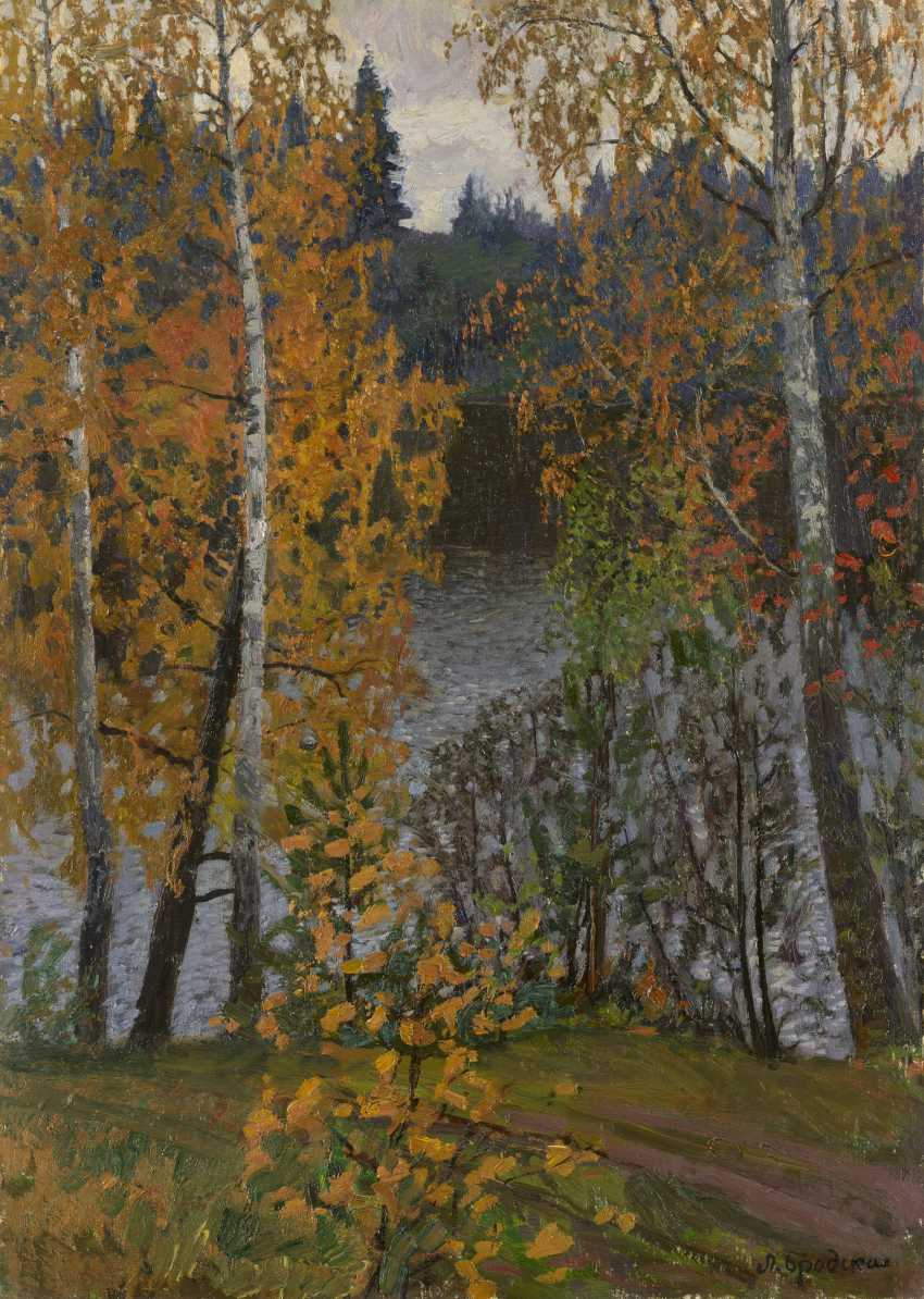 BRODSKAYA, LIDIA (1910-1991) Birch Trees in Autumn , signed, aslo further signed, titled in Cyrillic and dated 1964 on the reverse. - photo 1