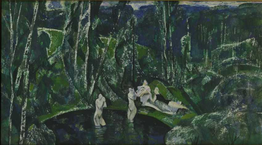 MYLNIKOV, ANDREI (1919-2012) Bathers , signed, dated 1968 and with a sketch of composition on the reverse. - photo 1