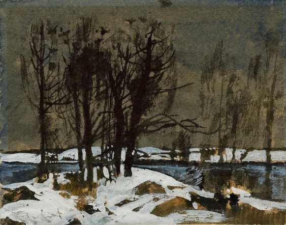 MYLNIKOV, ANDREI (1919-2012) Winter Landscape , signed. - photo 1