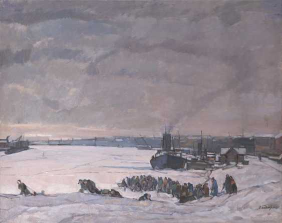 TIMKOV, NIKOLAI (1912-1993) The Siege of Leningrad , signed and dated 1984, also further signed, titled in Cyrillic and dated on the reverse. - photo 1