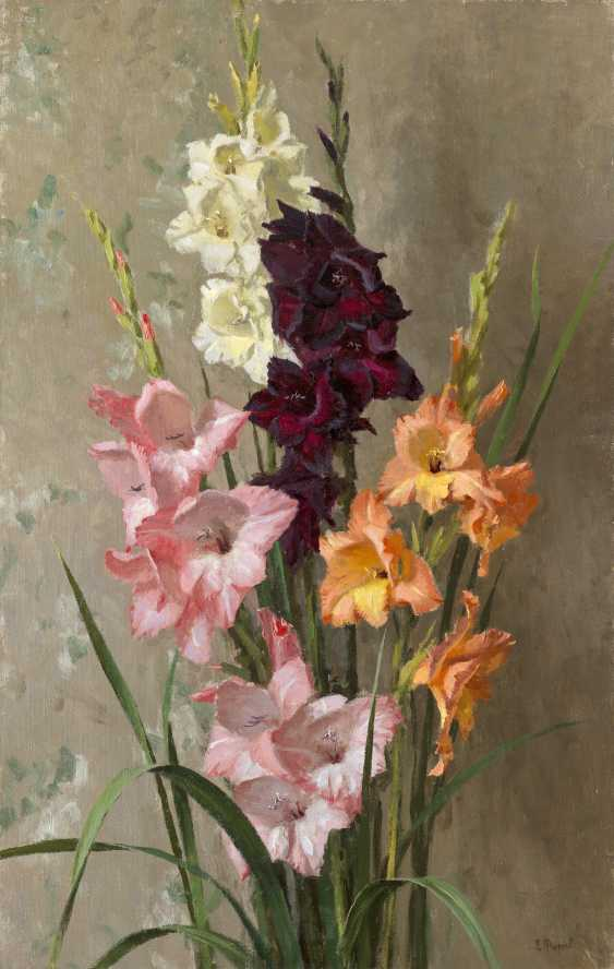 TITOV, DMITRI (1915-1975) Gladioli , signed, also further signed, titled in Cyrillic and dated 1960 on the stretcher. - photo 1