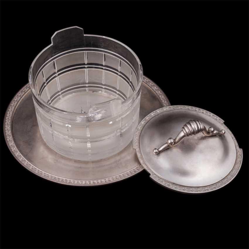Vase caviar on a saucer