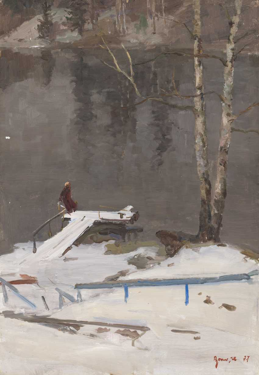 FILATOV, VASILY (1920-1982) First Snow , signed and dated 1977. - photo 1