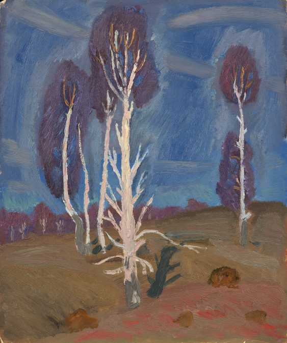 POPKOV, VIKTOR (1932-1974) Landscape with Birch Trees  - photo 1