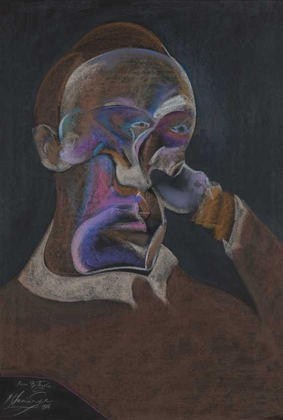 CHEMIAKIN, MIKHAIL (B. 1943) After Francis Bacon , signed, titled in Cyrillic and dated 1986. - photo 1