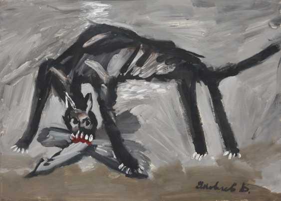YAKOVLEV, VLADIMIR (1934-1998) A Wild Cat , signed. - photo 1
