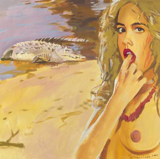 DUBOSSARSKY, VLADIMIR and VINOGRADOV, ALEXANDER (B. 1964 and B. 1963) Girl and Crocodile , signed and dated 2001. - photo 1