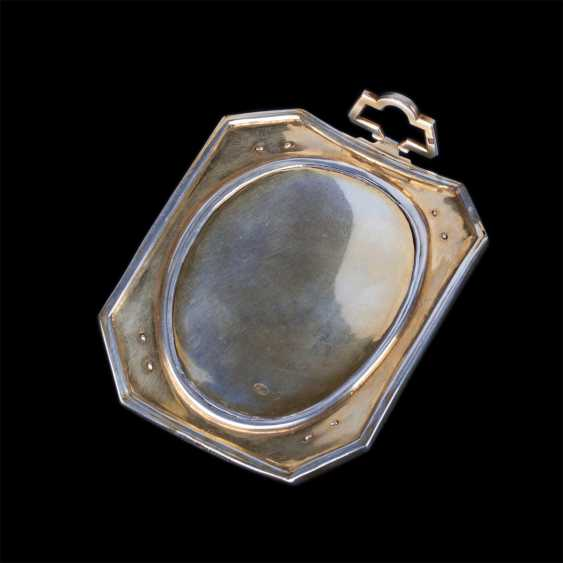 Rare unusual medallion cameo with the image of Athena polias on the stand in the easel - photo 3