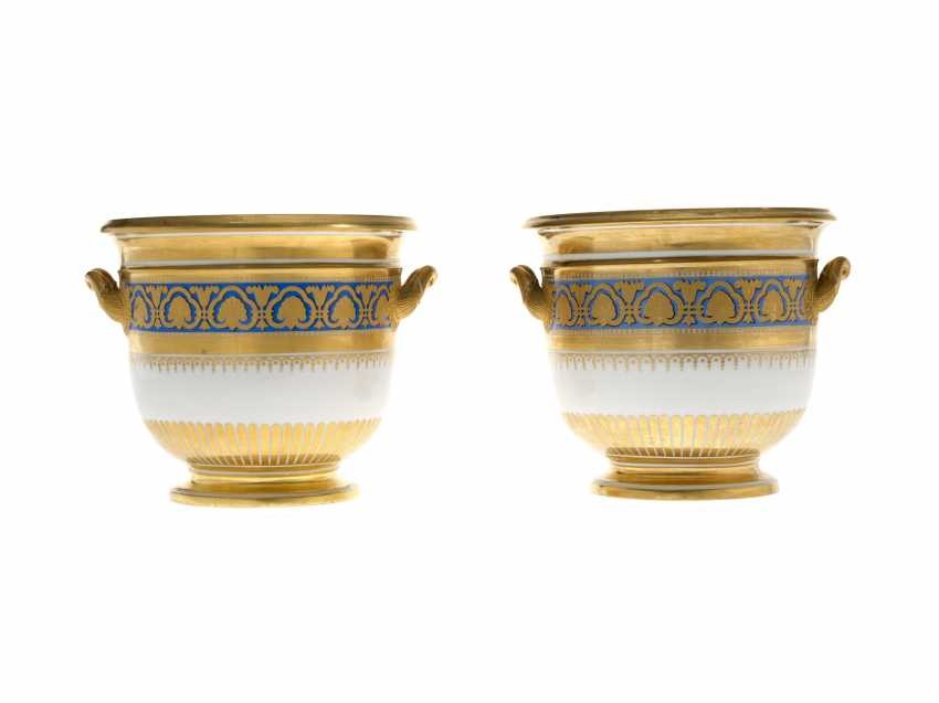 A Pair of Porcelain Wine Coolers from the Ministerial (Ropsha) Service    - photo 1