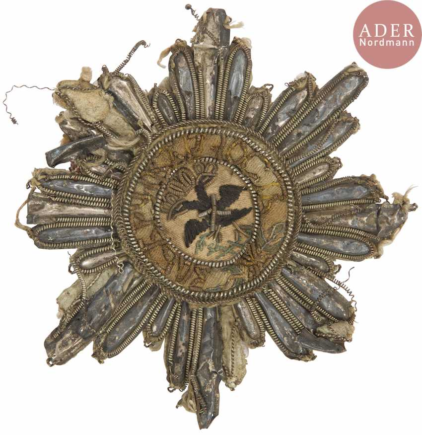 Plaque of the order of St. Andrew The First-Called, early Russian Nineteenth century. - photo 1