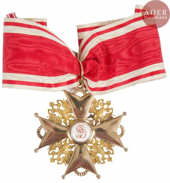 All of the Order of St. Stanislas, 1st class, awarded to a civilian capacity, including the golden insignia of 56 zolotniks (583 milliseconds) and enamels, and the plate vermeil 84 zolotniks (875 thousandths) and enamels. With a tape. T. B. E. - photo 2