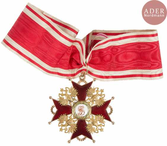 All of the Order of St. Stanislas, 1st class, awarded to a civilian capacity, including the golden insignia of 56 zolotniks (583 milliseconds) and enamels, and the plate vermeil 84 zolotniks (875 thousandths) and enamels. With a tape. T. B. E. - photo 3