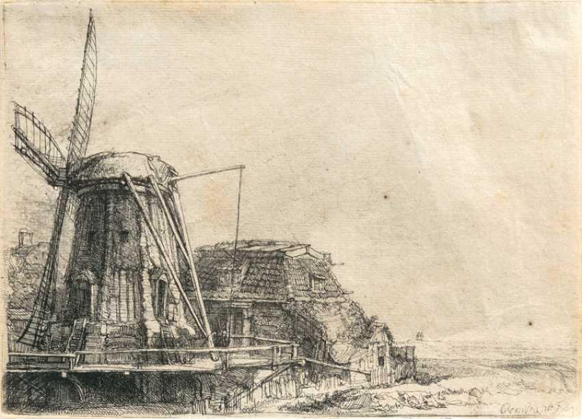 "Rembrandt Harmenszoon van Rijn ""Windmühle"" - photo 1"