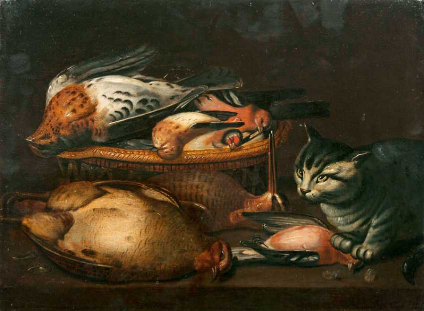 """Clara Peeters, """"a hunting still life with birds and cat"""" - photo 1"""
