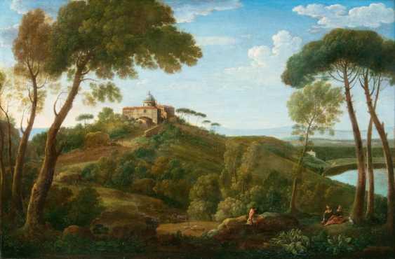"""Hendrik Frans van Lint """"Castel Gandolfo"""" - photo 1"""