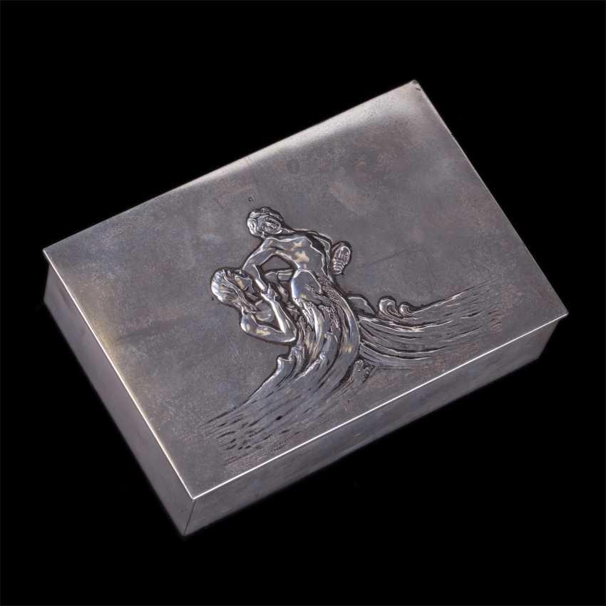"Cigar box art Nouveau ""Neptune and Amphitrite"" - photo 1"