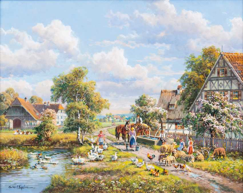 "Hubert Kaplan ""Village Of Peace"" - photo 1"