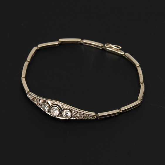 Art Deco ladies bracelet set with brilliant-cut diamonds and diamond roses. - photo 1