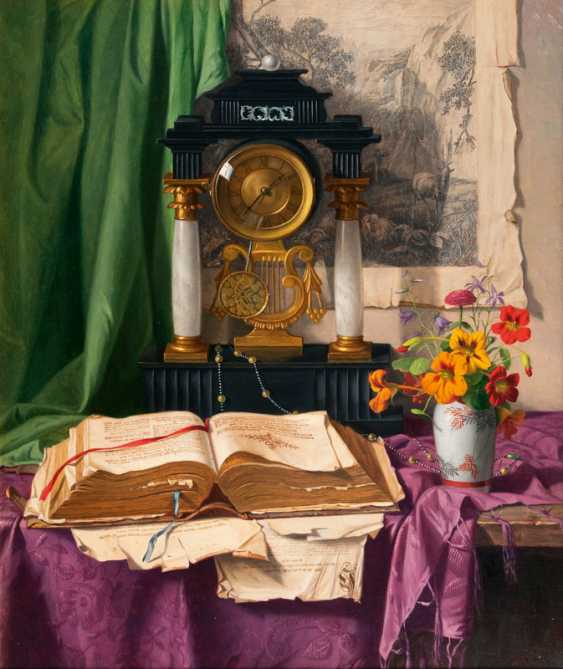 "Josef Jurutka ""still life with clock"" - photo 1"