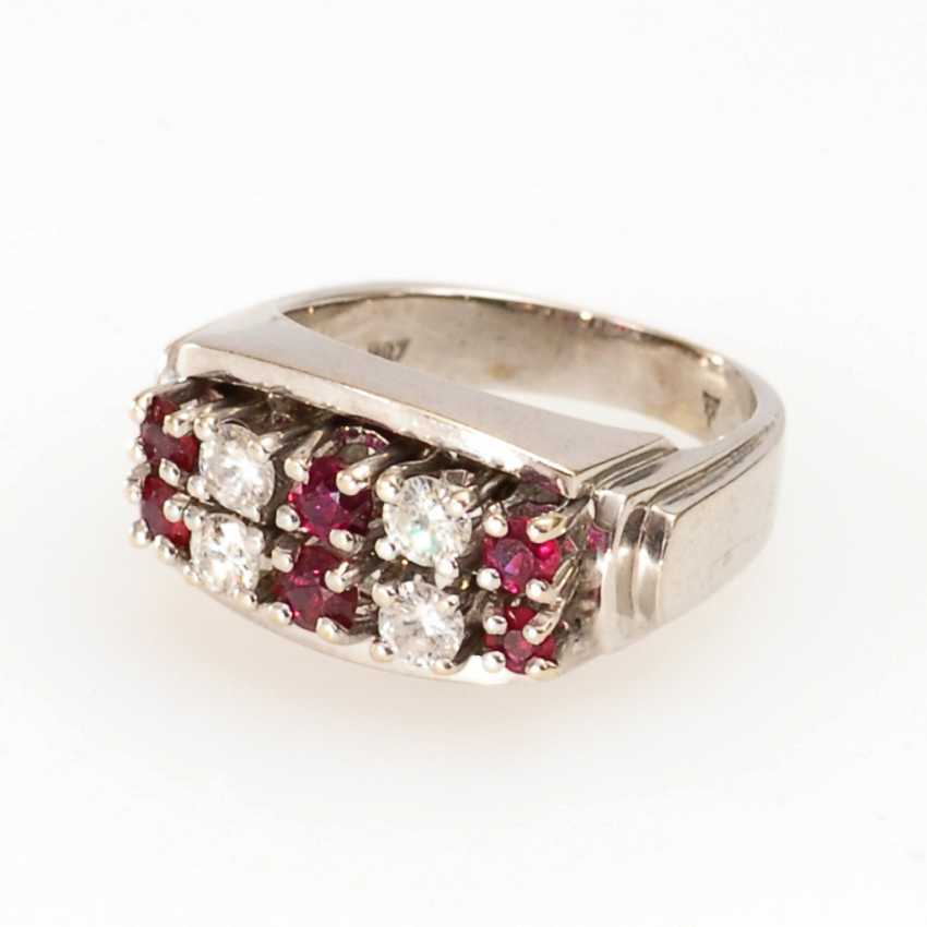 Ladies ring with diamonds and rubies. - photo 1