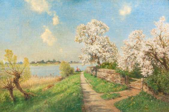 """Ascan Lutteroth """"flowering trees on the river Elbe"""" - photo 1"""