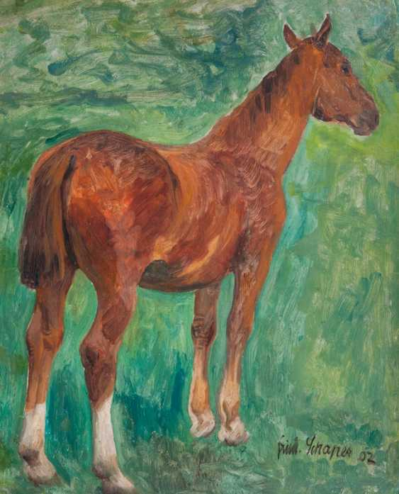 """Friedrich Schaper """"Standing horse to the right"""" - photo 1"""