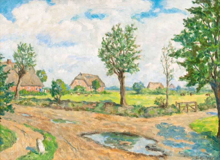 """Ernst Eitner """"Village Game, Hummelsbüttel"""" - photo 1"""
