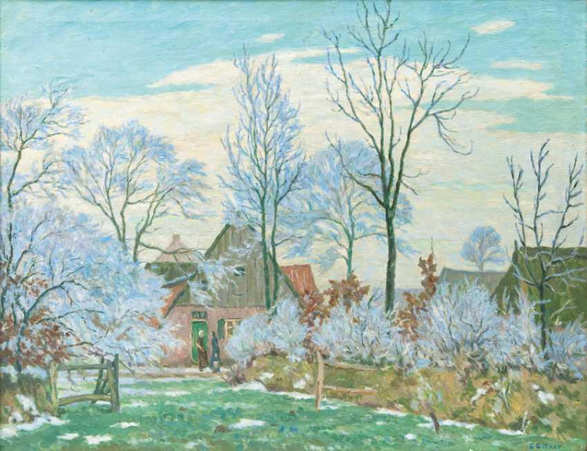 """Ernst Eitner """"village in the Mature"""" - photo 1"""