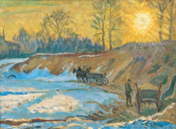 """Ernst Eitner """"gravel pit in Hummelsbüttel"""" - photo 1"""