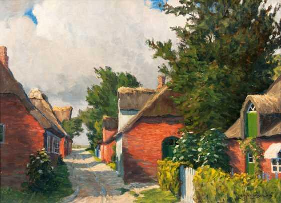"Paul Lehmann-Brauns ""village street in Övenum on the island of Föhr"" - photo 1"