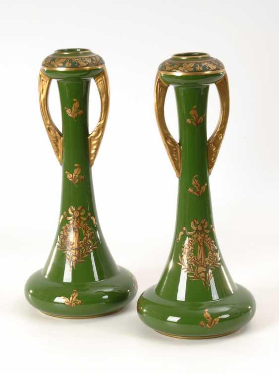 Paar Jugendstil-Vasen, Jaget et Pinon. - Foto 1
