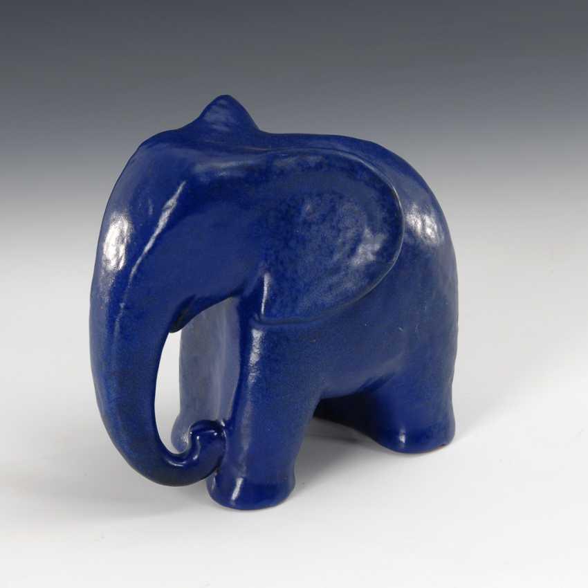 Blaues Elefantenbaby, Entwurf Max Laeuger/Karlsruhe. - Foto 1