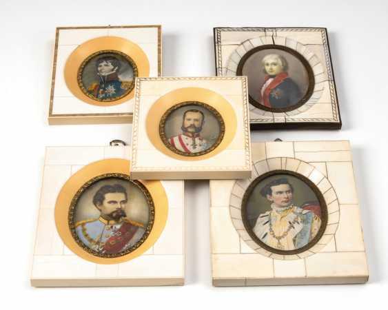 5 Miniaturen: Herrscherbildnisse. - Foto 1