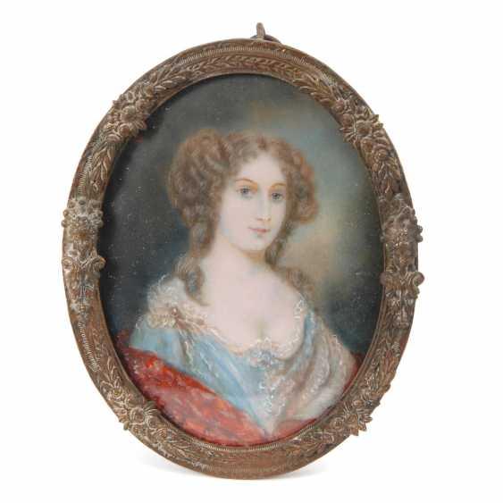 Miniatur: Porträt einer englischen Lady. - Foto 1