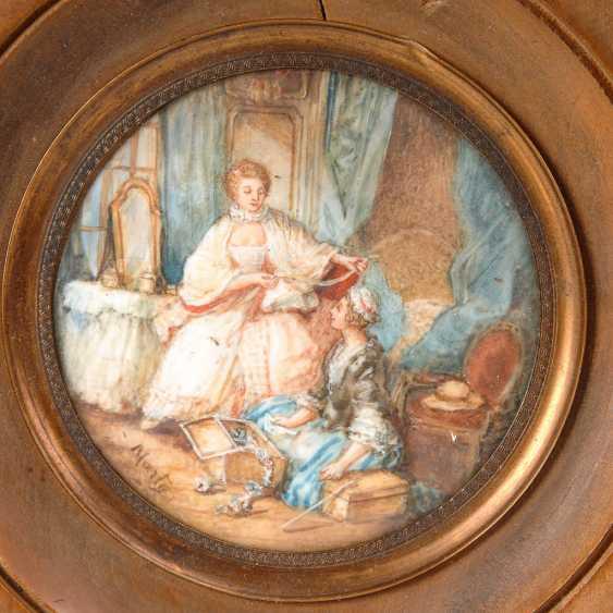 Miniatur: Dame mit Kammermädchen. - Foto 1