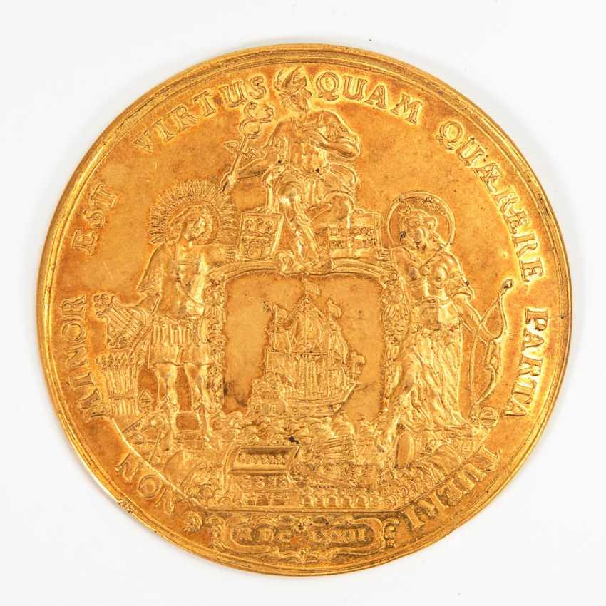 Bankportugalöser zu 10 Dukaten, 1672, Stadt Hamburg. - Foto 1