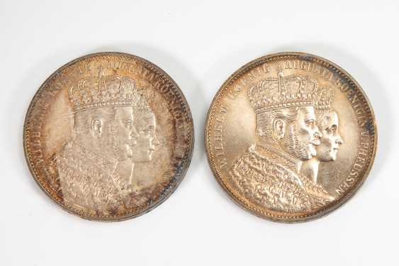 2 Krönungstaler Preußen 1861. - Foto 1