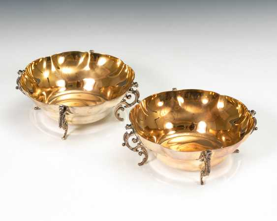 2 vergoldete Silberschälchen. - Foto 1