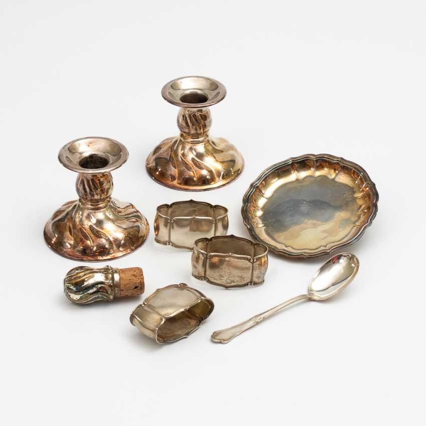 Konvolut 8x Silber und Versilbertes. - Foto 1