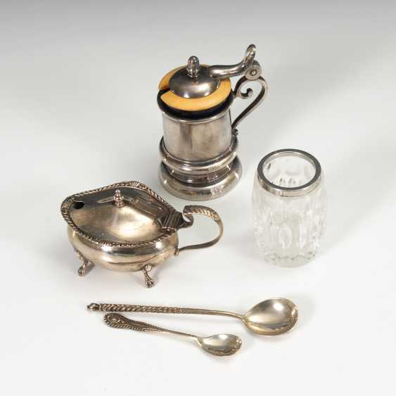 Mixed lot of 5 small items of silver and Silver-plated. - photo 1