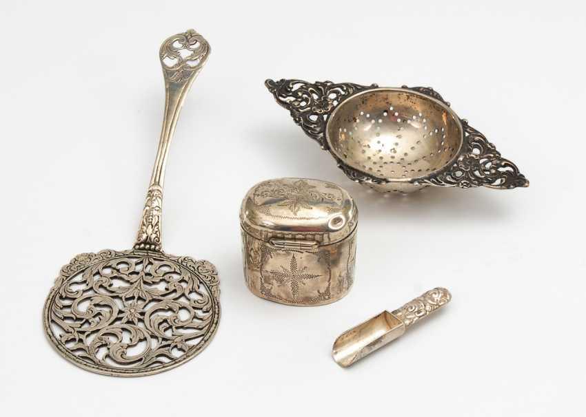 Konvolut 4 Kleinteile Silber. - Foto 1